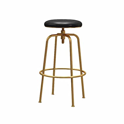 Bon Bar Stools Swivel Faux Leather Kitchen Breakfast Counter Tall Chairs Front Desk  Stools Metal Black +