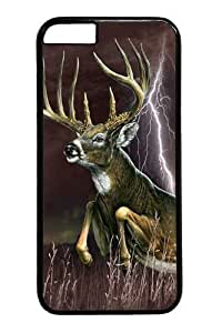 Deer Lightening PC Case Cover for iphone 6 plus 5.5 inch Black