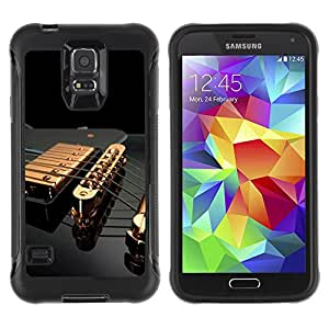 King Case@ Music Gold Guitar Rugged hybrid Protection Impact Case Cover For S5 Case , G9006 Cover Case ,Leather for S5 ,S5 Cover Leather Case ,G9006 Leather Case