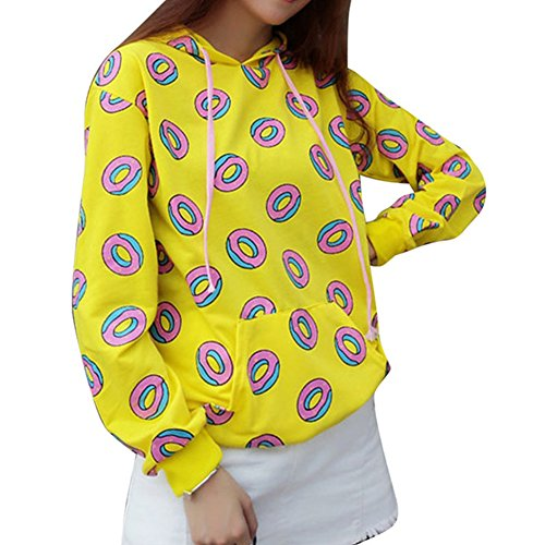a899cd743f072b Autumn Fashion Donuts Hoodies For Women Cute Sweatshirt Kawaii Harajuku