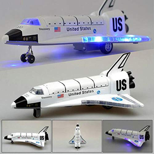 HCBYJ Airplane Model 18.5CM Alloy Metal Spacecraft Spaceship Aircraft Columbia Space Shuttle Model with Sound Light Toy Model-with Retail Box from HCBYJ