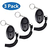 Ji Alarms, Personal Alarm, Keychain LED Flashlight (3-Pack), Loud 130db Personal Safety Device, Emergency Security System for Women, Kids, Elderly, Small Safesound Portable Self-Defense