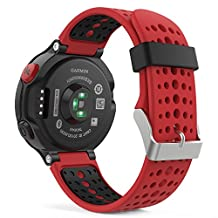 Garmin Forerunner 235 Accessories, MoKo Soft Silicone Replacement Watch Band for Garmin Forerunner 235 / 220 / 230 / 620 / 630 / 735 Smart Watch - RED