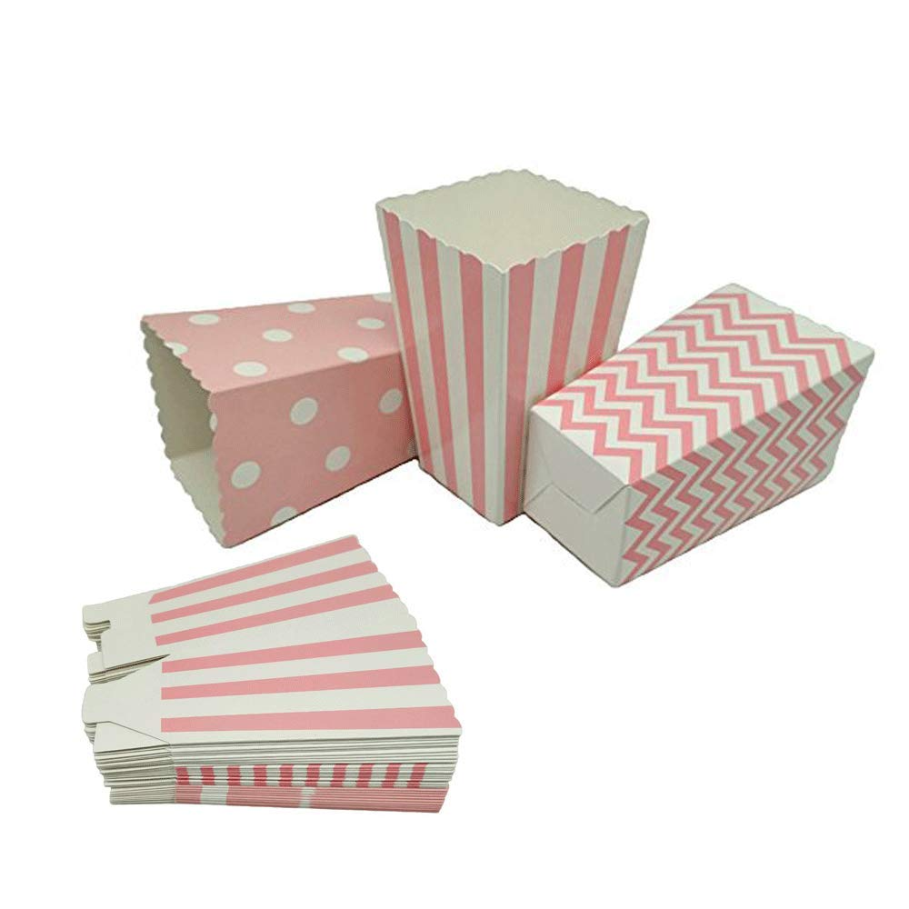Black Popcorn Boxes Cardboard Container For Party Supplies,Pack of 36