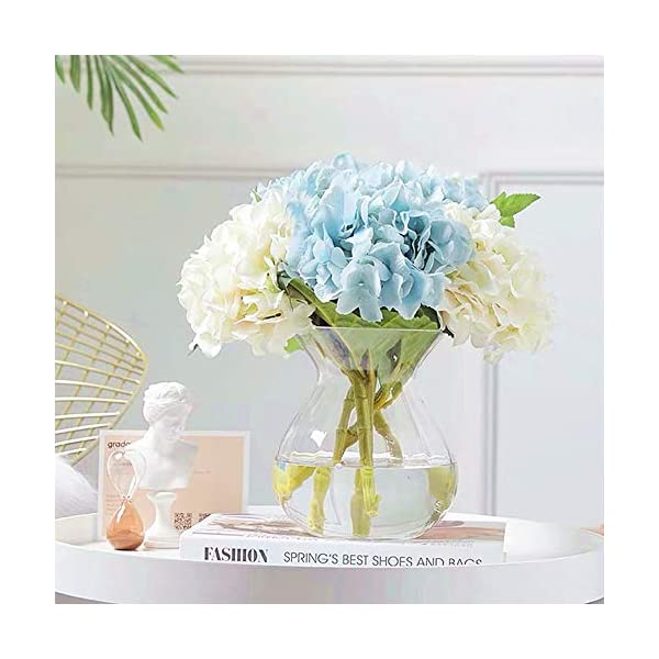 White Jasion Artificial Roses Flowers 10 Heads Arrangement Silk Bouquet Glorious Moral for Home Office Parties and Wedding Decoration