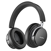 Active Noise Cancelling Wireless Headphones, MindKoo Over Ear Bluetooth Heaphones, Hi-Fi Powerful Bass Headsets with Built-in Mic, 25 Hours Playtime for iPhone, Android, Tablets, Laptops and More ¡­