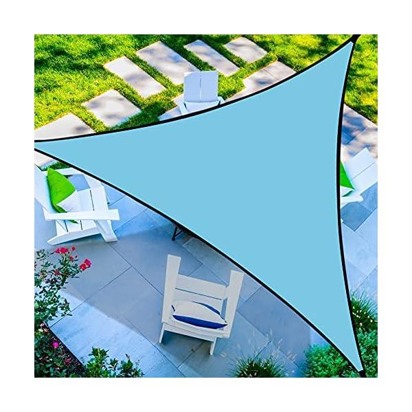 51LjMA80wpS RANJIMA Sonnensegel, Sonnensegel Dreieckig Sonnenschutz 3x3x3m, Schattensegel Wasserdicht Atmungsaktiv mit Tragtasche+3…