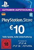 PlayStation Store Guthaben-Aufstockung | 10 EUR | PS4, PS3, PS Vita PSN Download Code - deutsches Konto