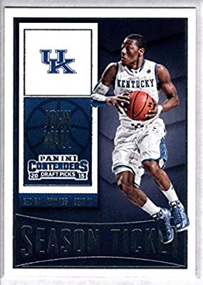 2015-16 Contenders Draft Picks Season Ticket Basketball #49 John Wall Kentucky Wildcats Official NCAA Trading Card made by Panini