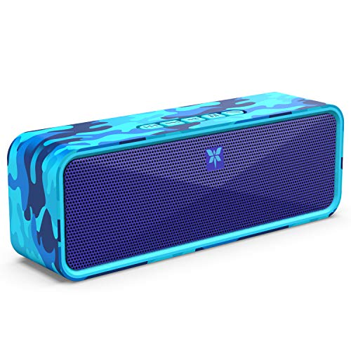 9 - AXLOIE Portable Bluetooth Speaker, Camouflage Bluetooth 5.0 Wireless Speaker with Deep Bass and Stereo Audio, 12 Hours Playtime, Support USB/TF Card/AUX Built-in Mic for Home Outdoors Travel