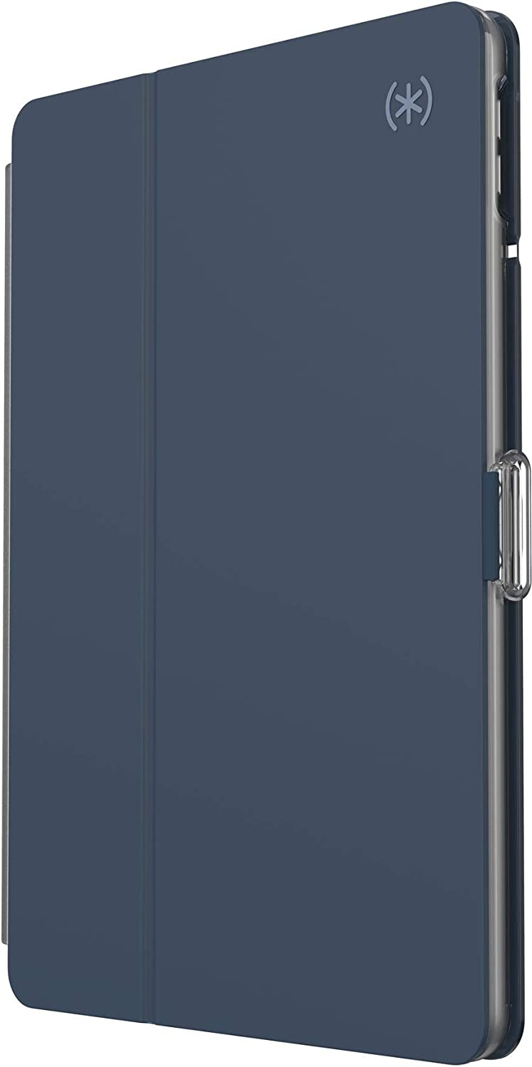 Speck Products BalanceFolio Clear iPad 10.2 Inch Case and Stand (2019), Marine Blue/Clear