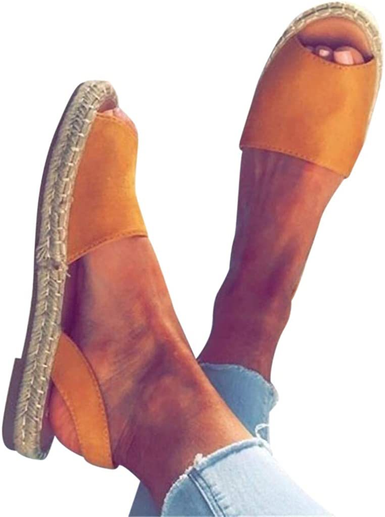 Women Ladies Summer Flat Heel Strap Slippers Beach Sandals Roman Style Shoes New