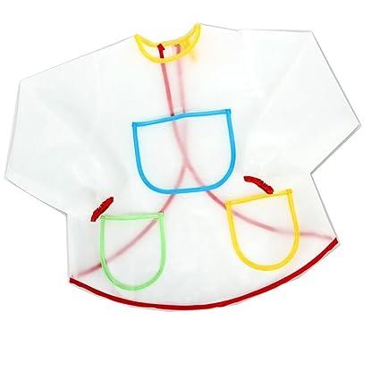 VORCOOL Delantal impermeable Bata de pintura para niños