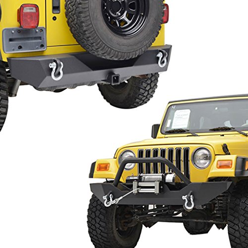 E-Autogrilles-97-06-Jeep-Wrangler-TJ-Black-Textured-Off-Road-Front-Bumper-and-Rear-Bumper-with-2-Hitch-Receiver-Combo-51-005151-0014