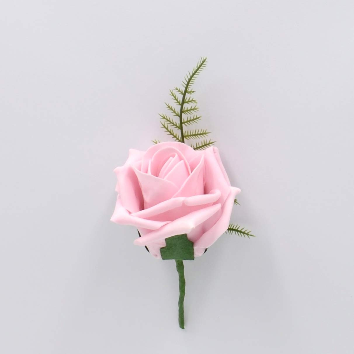 Artificial Wedding Flowers Hand-Made by Petals Polly, Foam Rose Buttonhole in Antique Pink PETALS POLLY FLOWERS