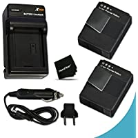 2 High Capacity Batteries Replacement of GoPro AHDBT-301 Lithium-ion Battery with AC/DC Quick Charger Kit for GoPro Hero3+ Digital Camera