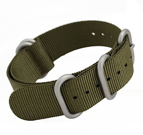 8 opinioni per MetaStrap- Cinturino 20 mm in Nylon per orologio, ZULU, colore: verde militare.