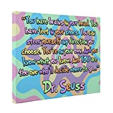 Dr Seuss Motivational Quote CANVAS Wall Art Home Décor