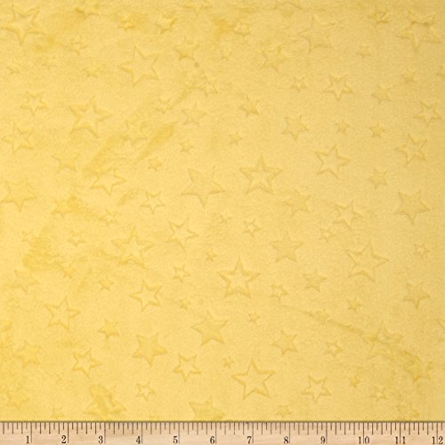 Embossed Star - Shannon Fabrics Shannon Minky Embossed Star Cuddle Banana Fabric by The Yard,