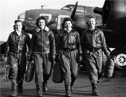 WWII WOMEN PILOTS GLOSSY POSTER PICTURE PHOTO decor 2 world war flight lady