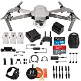 DJI Mavic Pro Platinum FLY MORE COMBO Collapsible Quadcopter Drone Bundle, Landing Kit, 64GB SD Card and More