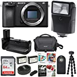 Sony a6500 4K Mirrorless Digital Camera Body with 64GB SD Card and Dual Battery Bundle