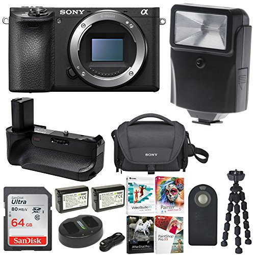 Sony a6500 4K Mirrorless Digital Camera Body ILCE-6500 + 64GB Bundle by Focus Camera