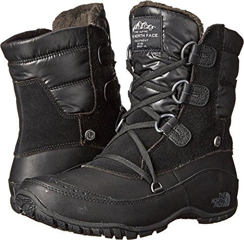 The North Face Nuptse Purna Shorty Boot Women's TNF Black/Plum Kitten Grey 9