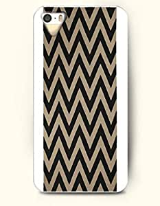 SevenArc Aztec Indian Chevron Zigzag Pattern Hard Case for Apple iPhone 4 4S ( Black And Brown Chevron In White Background...