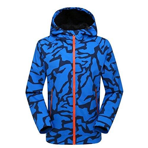 bleu XL FYM Vestes DYF Les Hommes Femmes montée Ski Down veste Coat imperméable extérieure Camouflage