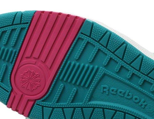 Reebok - Zapatillas de Deporte de cuero Mujer Blanco - White/Aqua/Green/Hot Lips