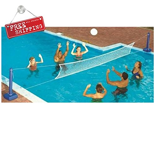 Amazon.com : Pool Volleyball Net Kit Volleyball Pole Set ...
