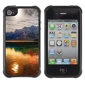 Pulsar Defender Series Tpu silicona Carcasa Funda Case para Apple iPhone 4 / iPhone 4S , Sunset Beautiful Nature 41