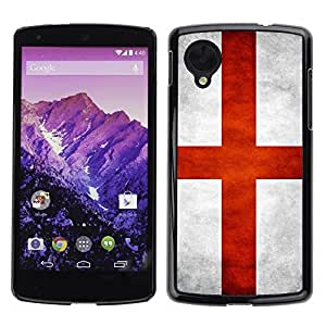 Shell-Star ( National Flag Series-England ) Snap On Hard Protective Case For LG Google NEXUS 5 / E980
