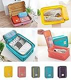 Portable Travel Shoe Bags Multicolor Storage Organizer Bag for Men Women (Watermelon Red)