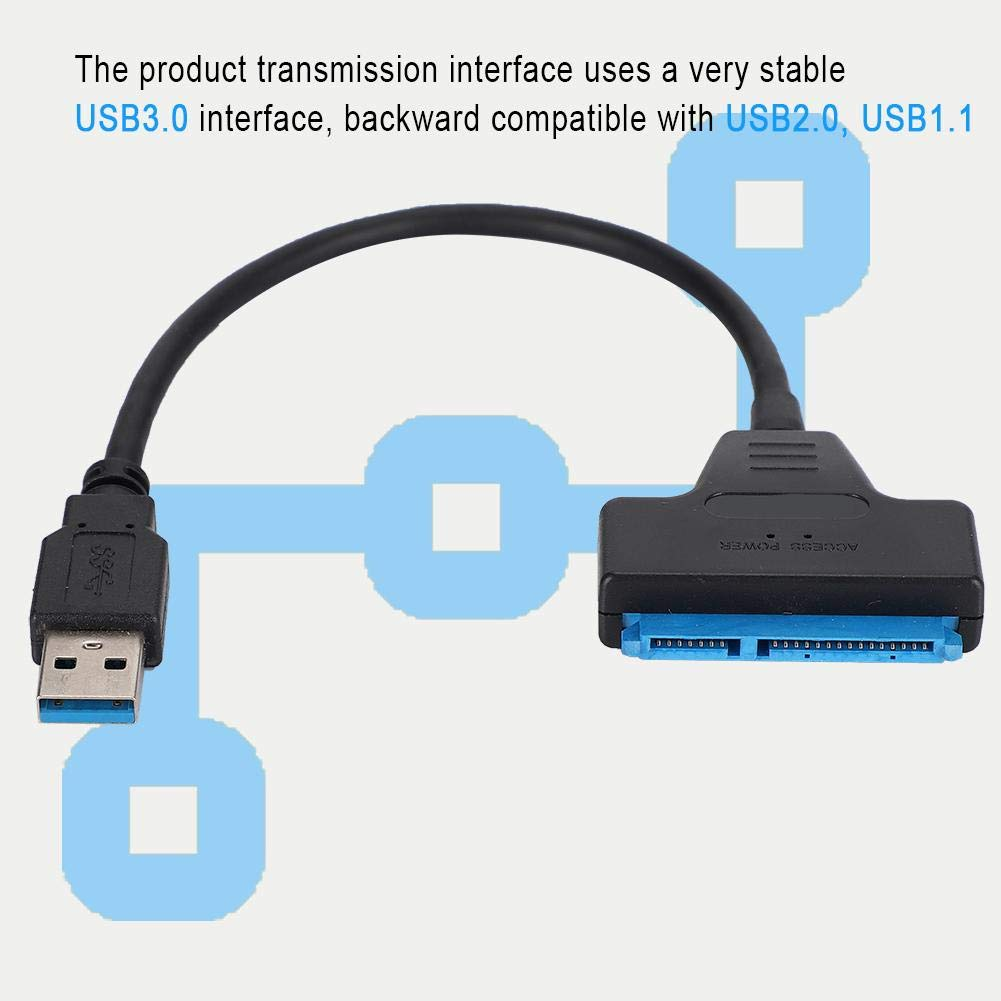 SATA to USB 3.0 Cable Converter Adapter for 3.5//2.5 inch Hard Drive//SSD USB 3.0 to 2.5 inch SATA III Hard Drive Adapter Cable