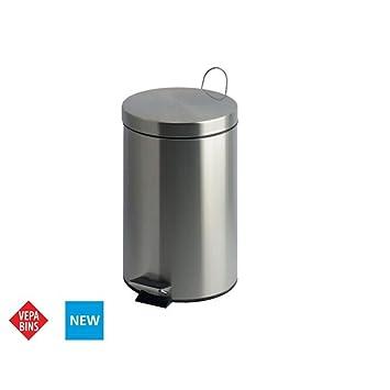 Amazon.com: V-Part - Cubo de basura con pedal (20 L, acero ...