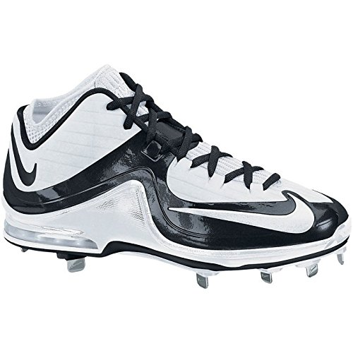 Nike Menns Air Max Mvp Elite Mid Metall Baseball Cleats Hvit / Hvit / Svart