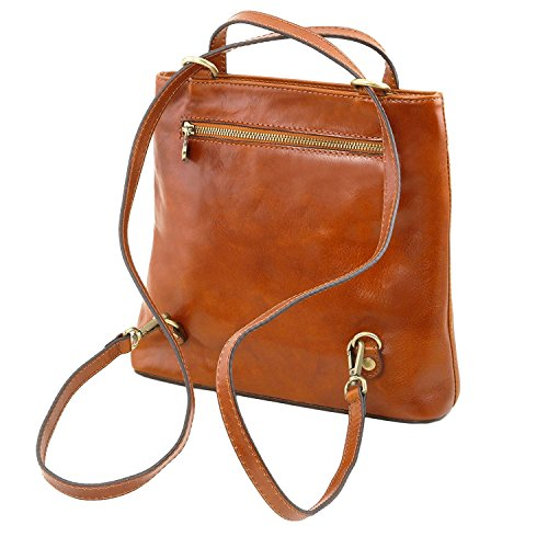 Tuscany Leather Martina - Borsa donna in pelle convertibile a zaino - TL141477 (Rosso) Rosso