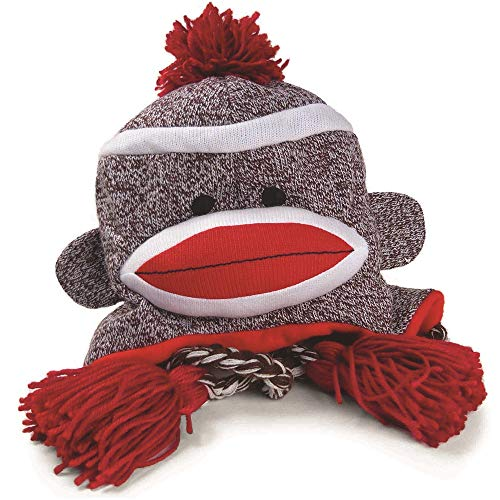 Pennington Bear Company The Original Sock Monkey Hat, Knit, Plush Material, Adult Size -