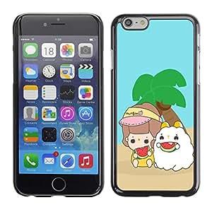 TopCaseStore / la caja del caucho duro de la cubierta de protección de la piel - Cute Island Buddies - Apple iPhone 6