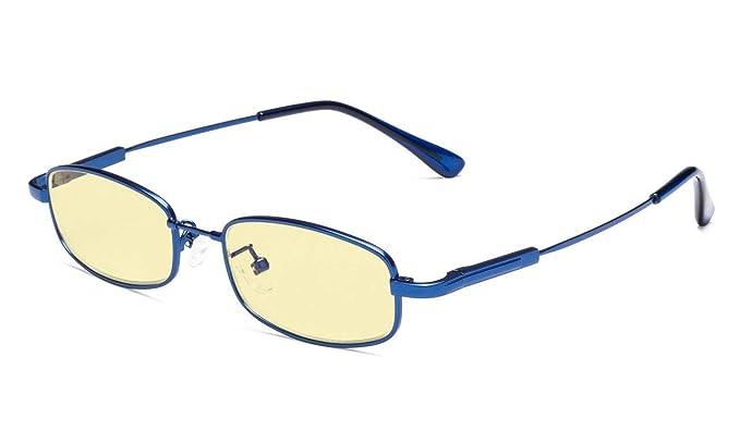 94e799b079 Eyekepper Lunettes Anti-lumière Bleue pour Garçons Enfants Cadre de Mémoire  de Style Rectangle de