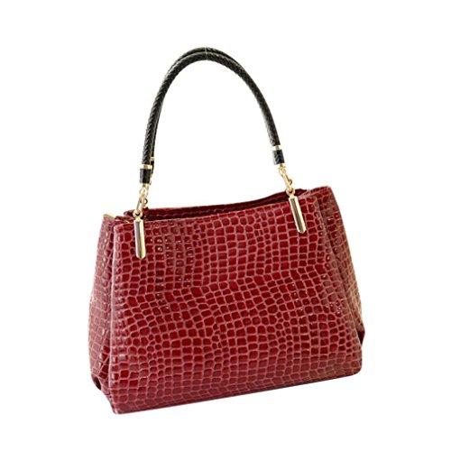 Women Messenger Bag Vintage Bag Tote Shell Bolsas Lady Pouch(red) - 9