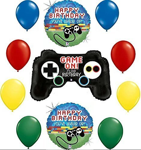Gamers Game On! It's Your Birthday Balloon Decoration Kit by Mayflower