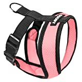 Gooby Choke Free X Frame Soft Harness with Micro Suede Trimming for Small Dogs, Small, Pink