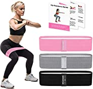 Mokani Resistance Bands for Legs and Butt, Fabric Exercise Bands Set Booty/Hip Bands, Wide Sports Fitness Loop