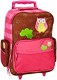 Stephen Joseph Girls 2-6x Girl's Rolling Luggage, Owl, One Size