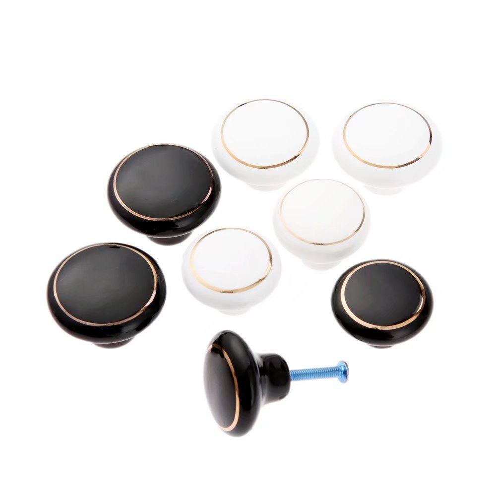 TM FBSHOP Keramik Runde Form T/ürkn/öpfe Antique Griffe zieht Kn/öpfe f/ür Schr/änke Schrank Kommode Shoebox Schubladen K/üchenm/öbel Kinderzimmer