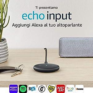Echo Input, Nero – Aggiungi Alexa al tuo altoparlante – È richiesto un altoparlante esterno con ingresso audio da 3,5 mm o Bluetooth