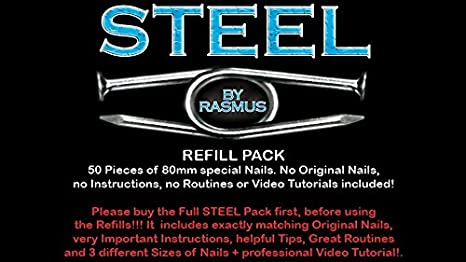 Amazon Steel Refill Nails 50 Ct 80mm By Rasmus Toys Games